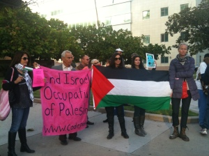 Palestin Freedom Rider Protest