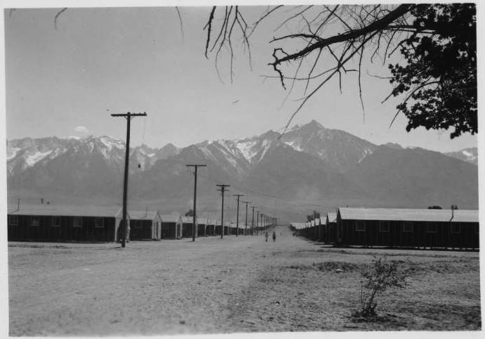1-main_road_in_the_japanese_relocation_camp_manzanar_california_ca_1944